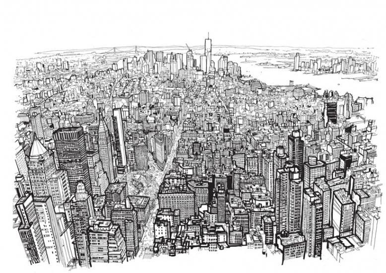 """Patrick Vale, ilustraciones """"enérgicas"""" de grandes ciudades ..."""