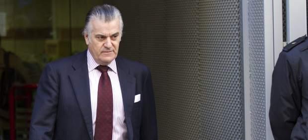 Luis Bárcenas a la salida de la Audiencia Nacional.