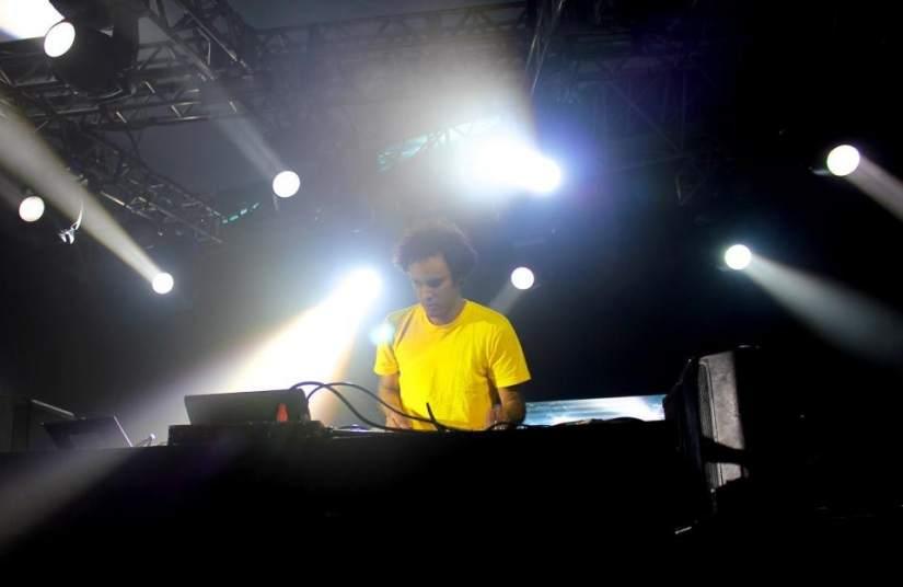Four Tet. El DJ británico Four Tet, en el Sónar Sao Paulo 2012.