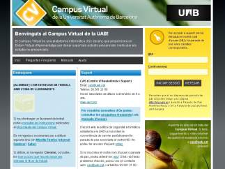 Campus virtual de la Universidad Autónoma de Barcelona
