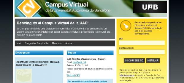 Campus virtual de la Universidad Autónoma de Barcelona