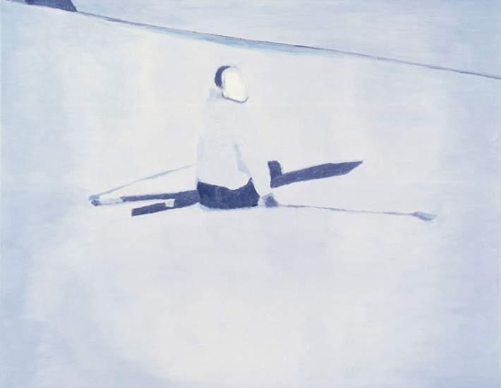 'Der Architekt'. 'Der Architekt' (1997-98) obra del artista Luc Tuymans (1958) que los organizadores de la exposición emparentan con los paisajes de Friedrich en el tratamiento del color y la composición