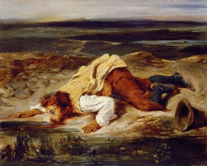 'Verwundeter Räuber (Brigand blessé)'