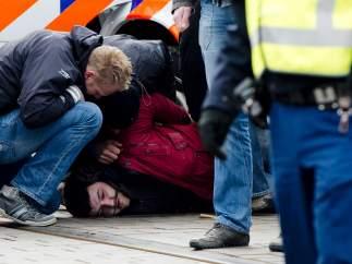 Un hombre es arrestado en La Haya por lanzar una botella contra la comitiva de Erdogan