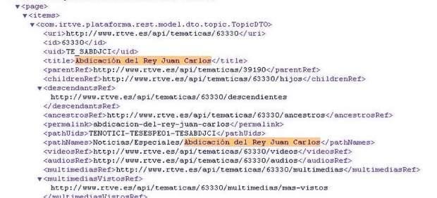 Código de la web de 'TVE'