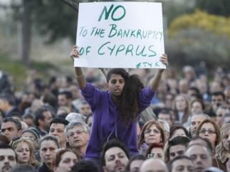 Manifestaciones en Chipre