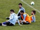 David Villa, Pedro, Gerard Pique y Sergio Busquets