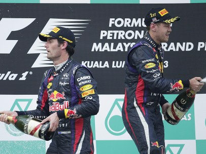 Webber y Vettel