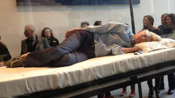 Tilda Swinton en el Museo de Arte de Nueva York