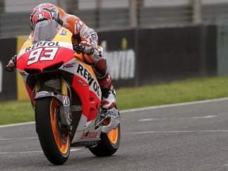 Marc Márquez, durante la tercera jornada de entrenamientos MotoGP en Jerez