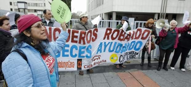 Protesta contra los desahucios en Plaza de Castilla