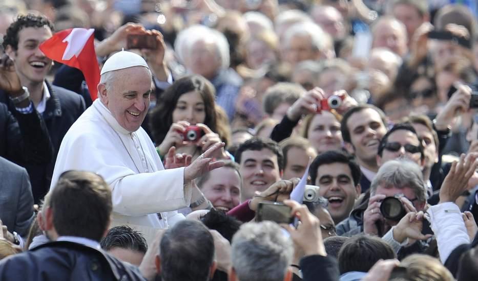Primera audiencia presidida por el papa Francisco