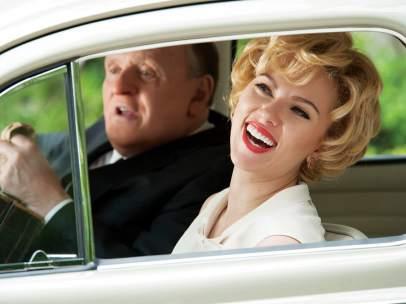 Anthony Hopkins y Scarlett Johansson, en 'Hitchcock'.