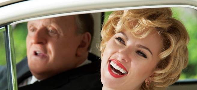 Anthony Hopkins y Scarlett Johansson, en 'Hitchcock'.