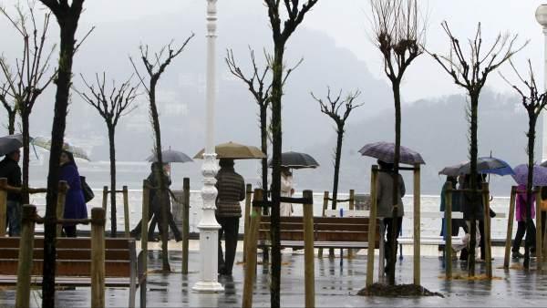 Tiempo lluvioso en Semana Santa