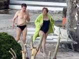 Angela Merkel, de vacaciones en un balneario