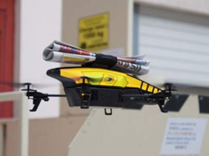 Dron volador