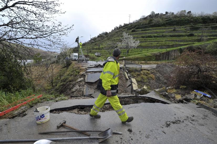 Portugal también sufre las lluvias