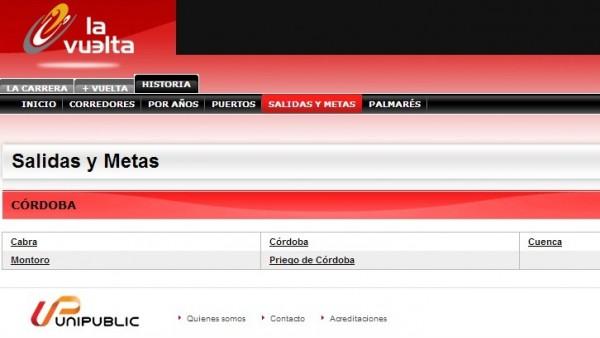 Web de la Vuelta