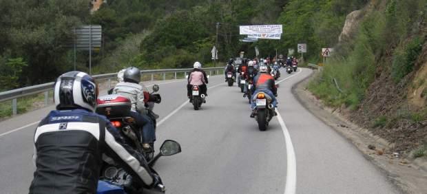 Moteros por la carretera