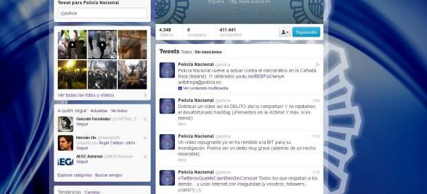 Tuits de la policía sobre el vídeo sexual