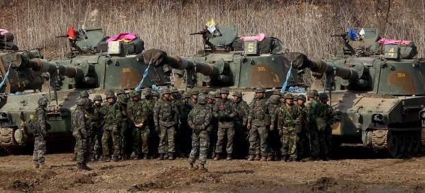 Maniobras en Corea del Sur