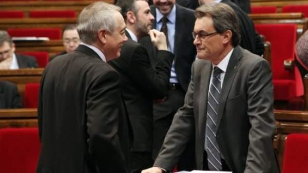 Artur Mas y Pere Navarro
