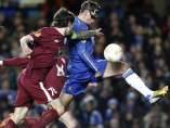 Fernando Torres, en el Chelsea-Rubin de la Liga Europa