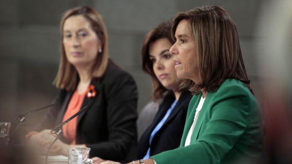 Soraya Sáenz de Santamaría, Ana Mato y Ana Pastor