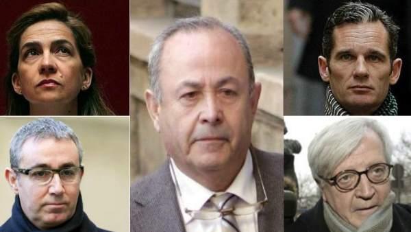 Los protagonistas del caso Nóos
