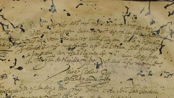 Documento del siglo XVI