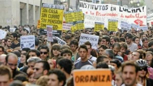 Manifestación de 'Juventud sin Futuro'