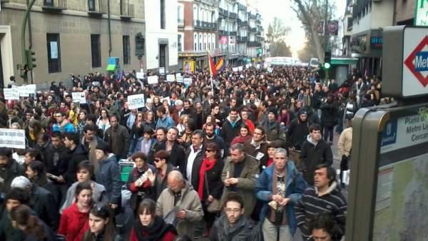 Marcha de 'Juventud sin Futuro'