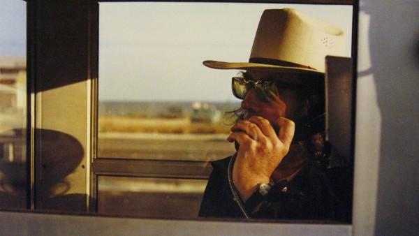 Los Alamos Portfolio-California, 1974, Walter Hopps in phone booth