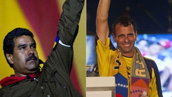 Maduro y Capriles