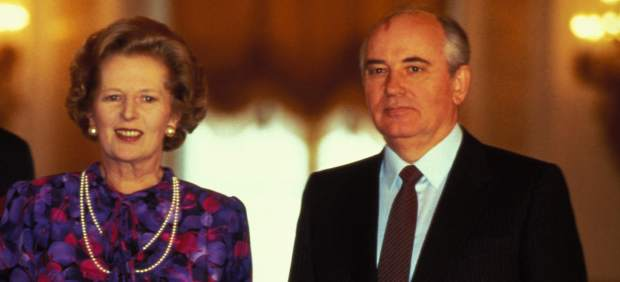 Thatcher y Gorbachov