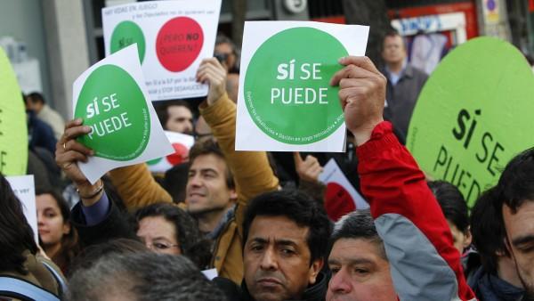 Escrache en Madrid