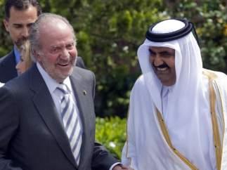 El rey con el emir de Catar