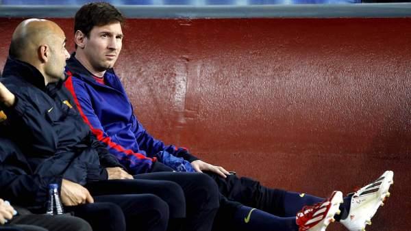 Messi en el banquillo