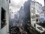 Incendio en Bermeo (Vizcaya)
