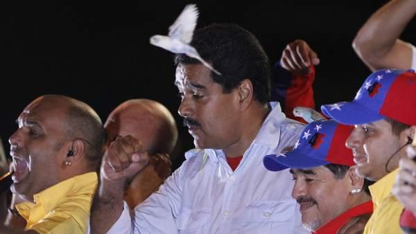 Nicolás Maduro, en el cierre de campaña