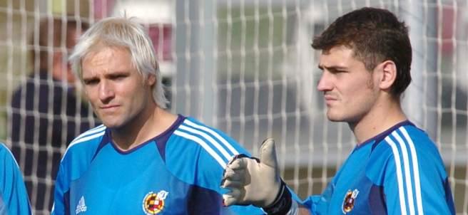 Una lesión apartó a Cañizares de la portería de la selección