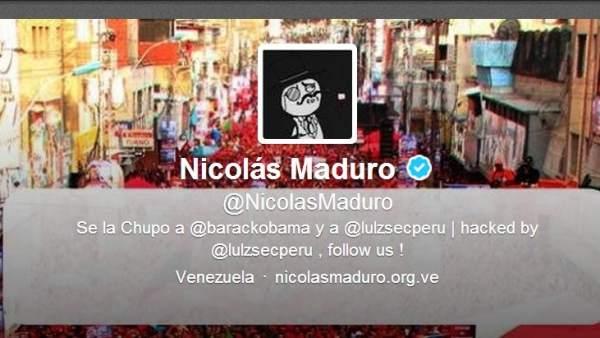 Hackean el Twitter de Maduro