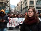 Protesta estudiantil.
