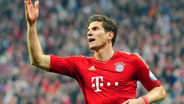 Mario Gómez con el Bayern