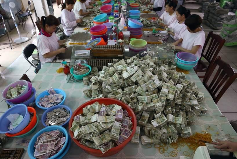 Recuento manual de dinero