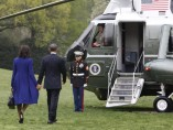 Obama y su esposa viajan a Boston