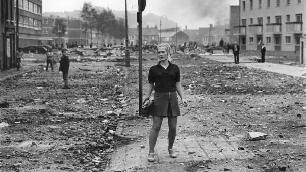 'After a confrontation between Catholic demonstrators and police of Ulster'
