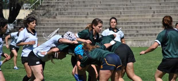 Entrenamiento de la selección femenina de rugby