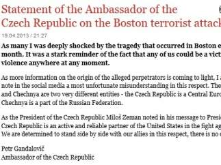 Comunicado del embajador de República Checa
